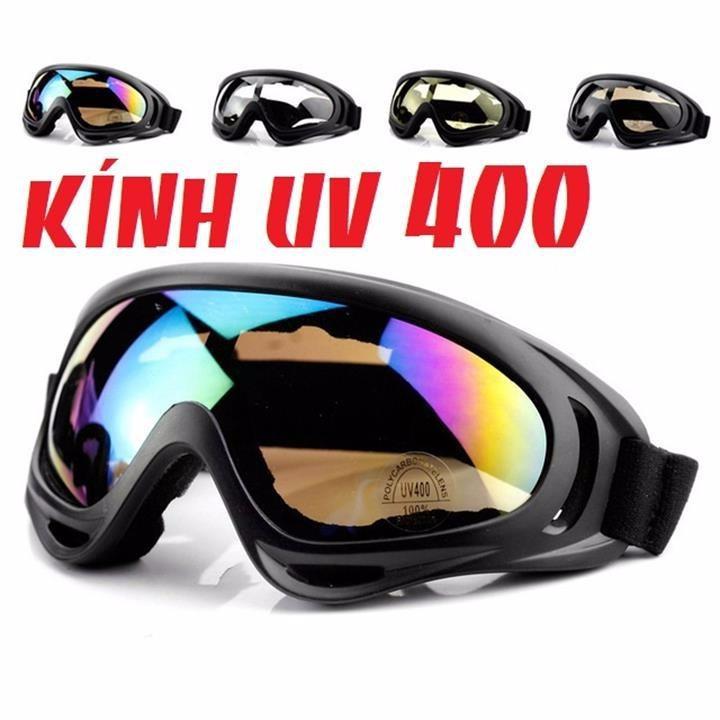 Kính Chuyên Dụng Cho Dân Phượt UV400 Gắn Nón Bảo Hiểm Xe Máy