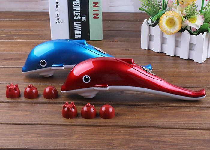 Máy Massage Mini Cầm Tay Cá Heo 3 Đầu