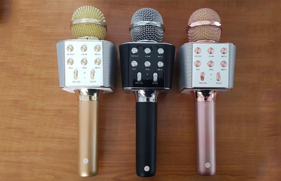 Micro Karaoke Bluetooth Kèm Loa 3 Trong 1 Ws-1688