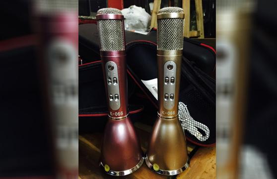 Micro Karaoke Kèm Loa Bluetooth K066 3 Trong 1