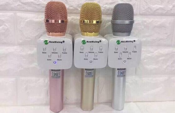 Micro Karaoke Kèm Loa Bluetooth Newrixing K9 3 Trong 1 Nghe Cực Hay
