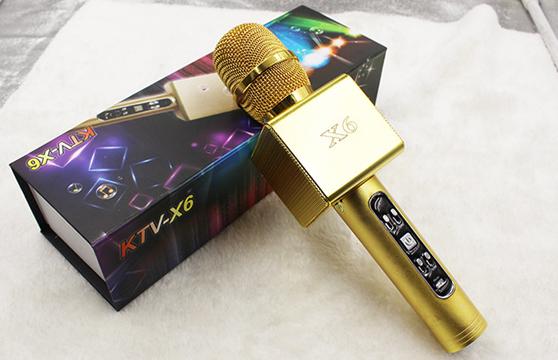 Micro Karaoke Kèm Loa Bluetooth X6 3 Trong 1 Chính Hãng Cao Cấp