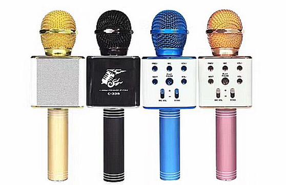 Microphone Karaoke Kèm Loa Bluetooth C-336