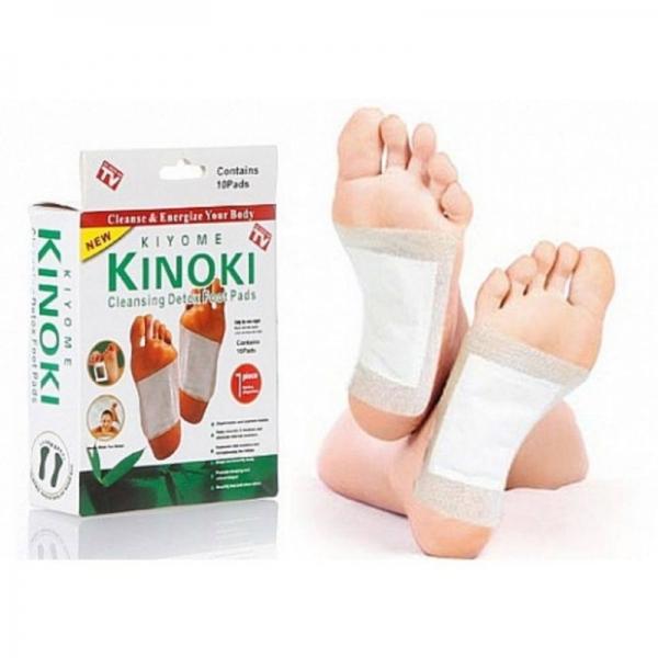 Bộ 10 Miếng Dán Chân Giải Độc Kinoki Nhật Bản Giải Độc Bàn Chân, Tiện Lợi, Nhanh Chóng, Hiệu Quả