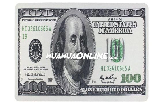 Bộ 2 Miếng Lót Chuột Hình Tiền Dolar - Euro