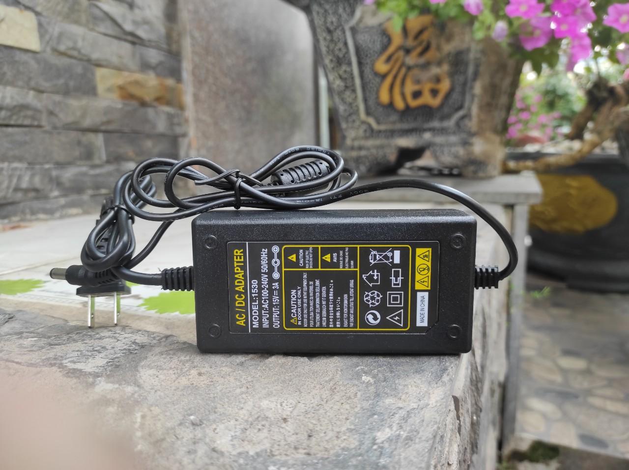 Adapter Nguồn 15V 3A Chuyên Dùng Cho Loa Kéo Và Các Thiết Bị Điện Tử Có Đèn Led