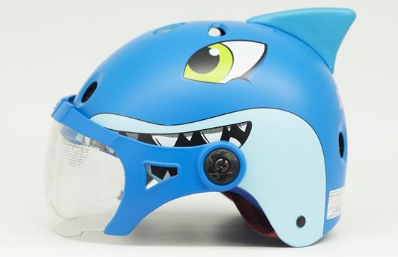 Nón Bảo Hiểm Trẻ Em Có Kính Hình Cá Mập