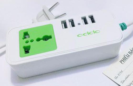 Ổ Cắm Điện Oppo 4 Cổng Usb Và 1 Đầu Cắm  Tiện Dụng