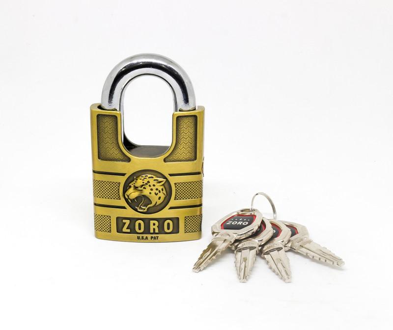 Ổ Khóa Zoro Chống Cắt Đầu Báo Siêu Bền Kèm 4 Chìa Khóa