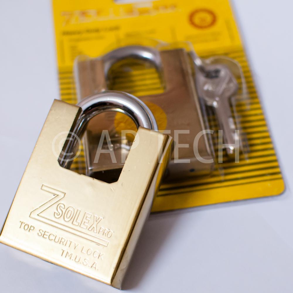 Ổ Khóa Zsolex Chống Cắt Đúc Nguyên Khối USA 60x80mm Loại Lớn Kèm 4 Chìa Khóa