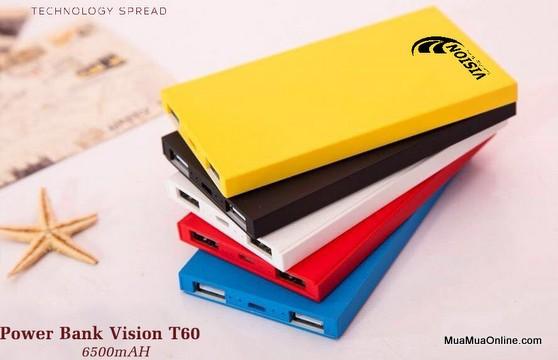 Pin Sạc Dự Phòng Vision 6500Mah Chính Hãng