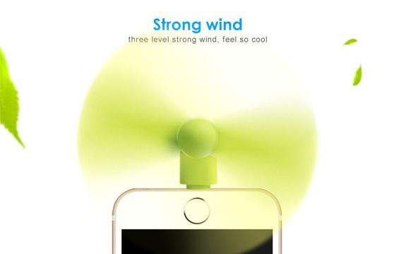 Quạt 2 Cánh Mini Cắm Nguồn Iphone Cao Cấp