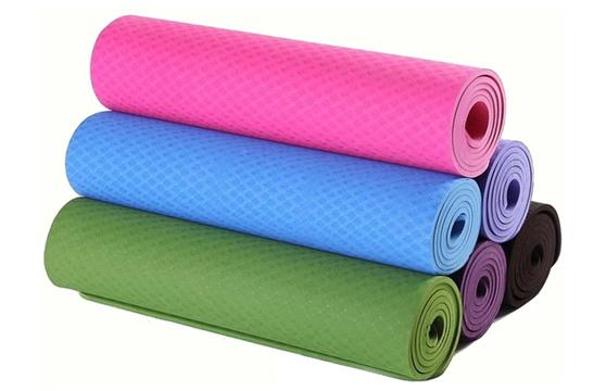 Thảm Tập Yoga TPE 2 Lớp Hoa Văn Cao Cấp + Tặng Kèm Túi Đựng