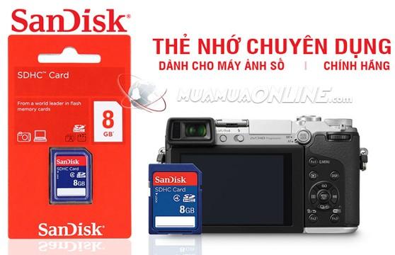 Thẻ Nhớ Sdhc Sandisk 8G Class 4 Chính Hãng