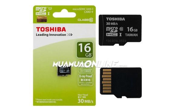 Thẻ Nhớ Micro Toshiba 16Gb Class 10 Chính Hãng