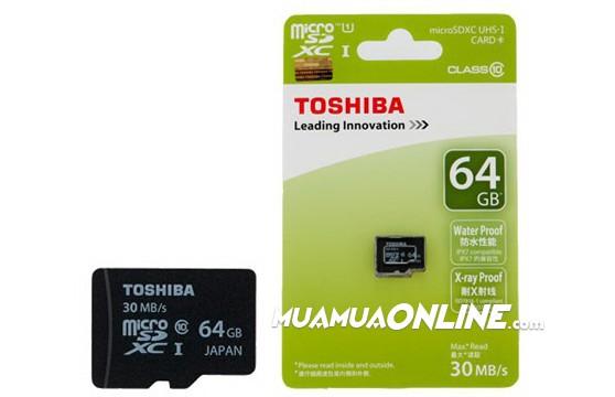 Thẻ Nhớ Micro Toshiba 64Gb Class 10 Chính Hãng
