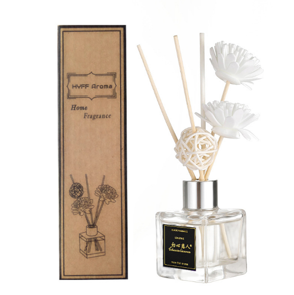 Chai Tinh Dầu Thơm Có Bông Hoa Home Fragrance 50ml