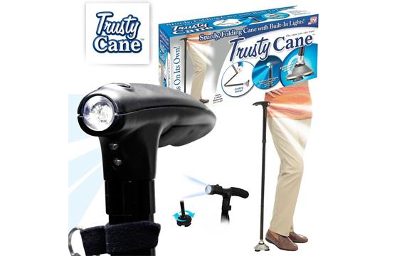 Gậy Gấp Gọn Trusty Cane Chống Trượt Có Đèn Pin
