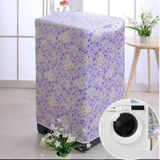 Áo Trùm Máy Giặt Cửa Trước Vải Satin Cao Cấp