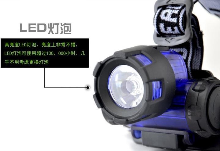Đèn Pin Đội Đầu YU-017 Dùng Pin 3A Tiện Lợi