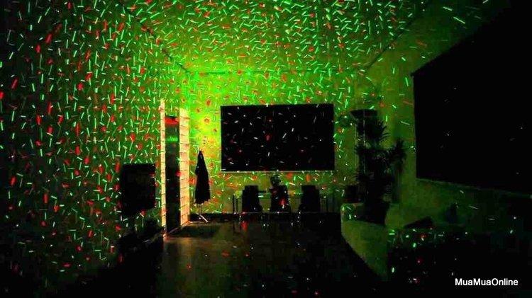 Đèn Chiếu Sao Trang Trí Mini Laser Stage Lighting Cảm Biến Nhạc Cao Cấp