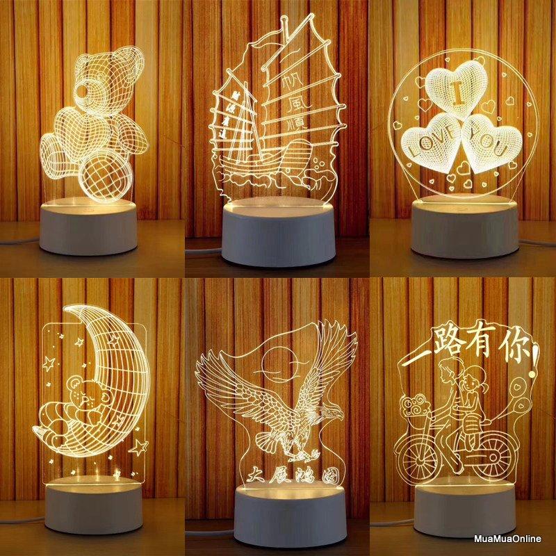 Đèn Led Ngủ 3D Nhiều Mẫu Hình Cực Đẹp