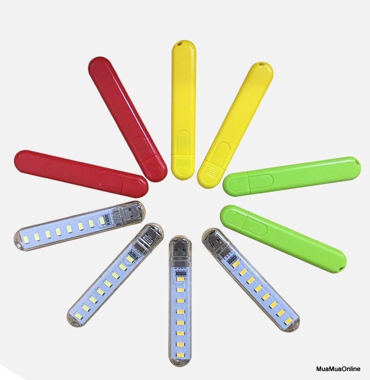 Đèn Led Usb 8 Đèn Siêu Sáng Nhiều Màu