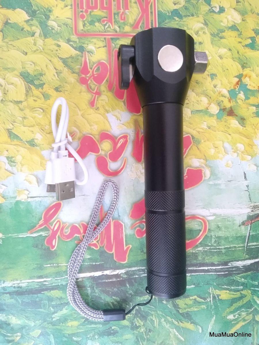 Đèn Pin Cứu Hộ Đa Năng Siêu SÁng T6-28 Có Dao Cắt Cao Cấp