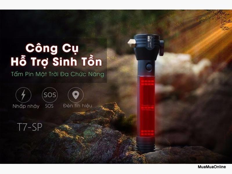 Đèn Pin Police 11 Chức Năng Solar Power Flashlight Cao Cấp