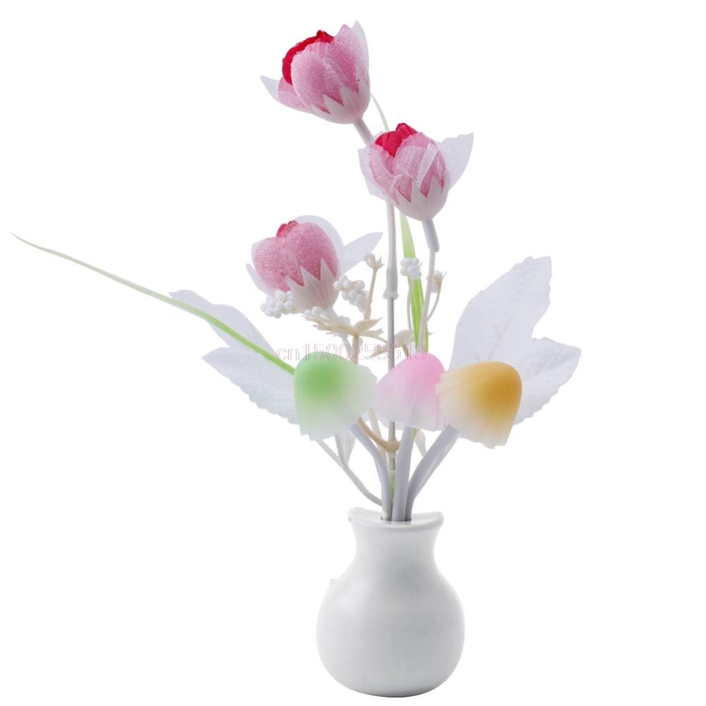 Đèn Ngủ Hoa Nấm Và Hoa Tulip Cảm Ứng Ánh Sáng