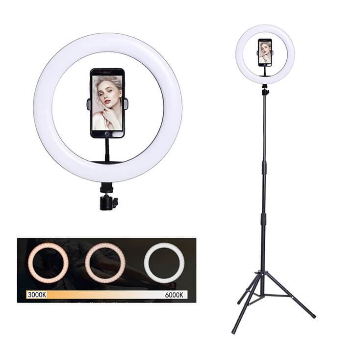Đèn Tròn Livestream 26cm (10inch) Chuyên Nghiệp Kèm Giá Kẹp Điện Thoại