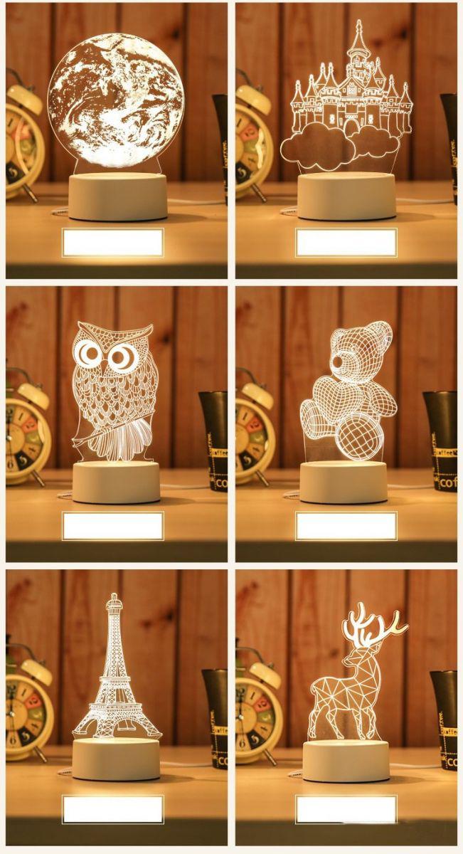 Đèn Ngủ 3D Có Led Nhiều Mẫu Hình Cực Đẹp