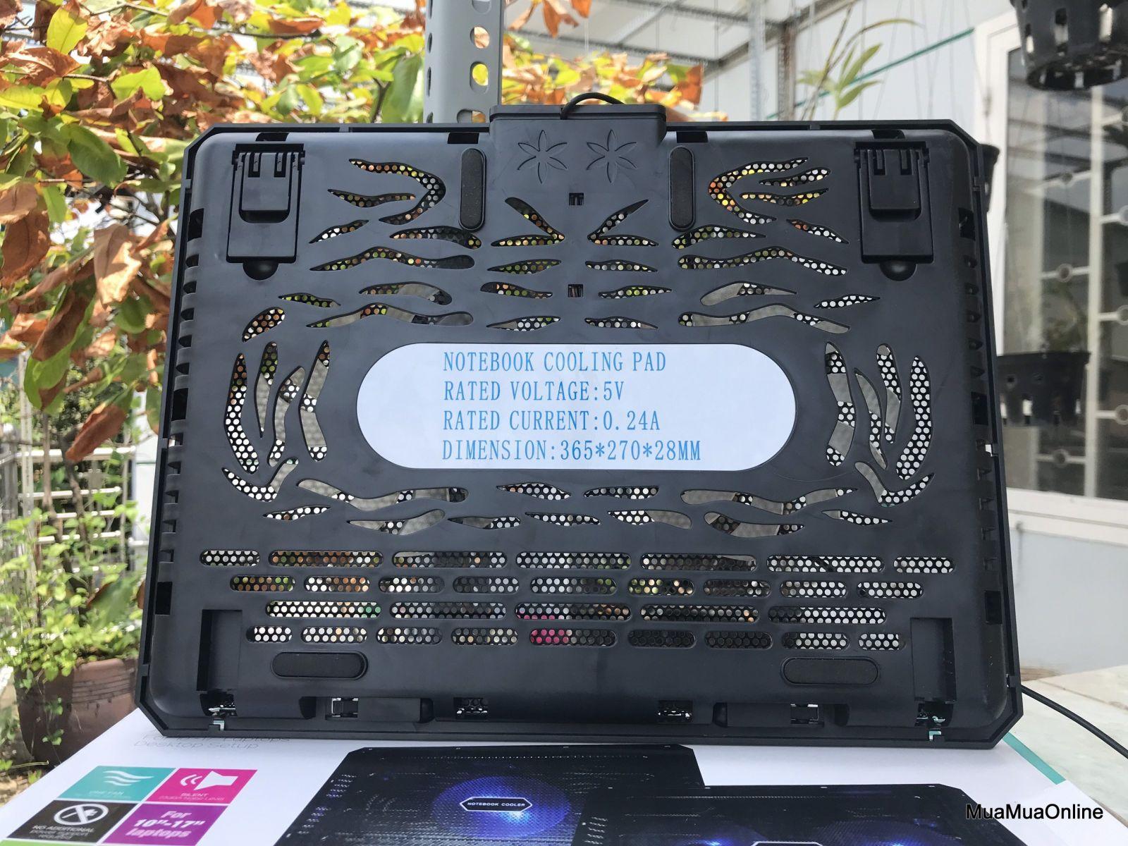 Đế Tản Nhiệt Laptop M2 2 Quạt Cực Mát