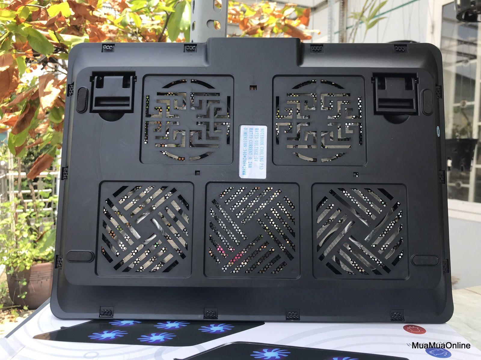 Đế Tản Nhiệt Laptop V4 4 Quạt Cao Cấp