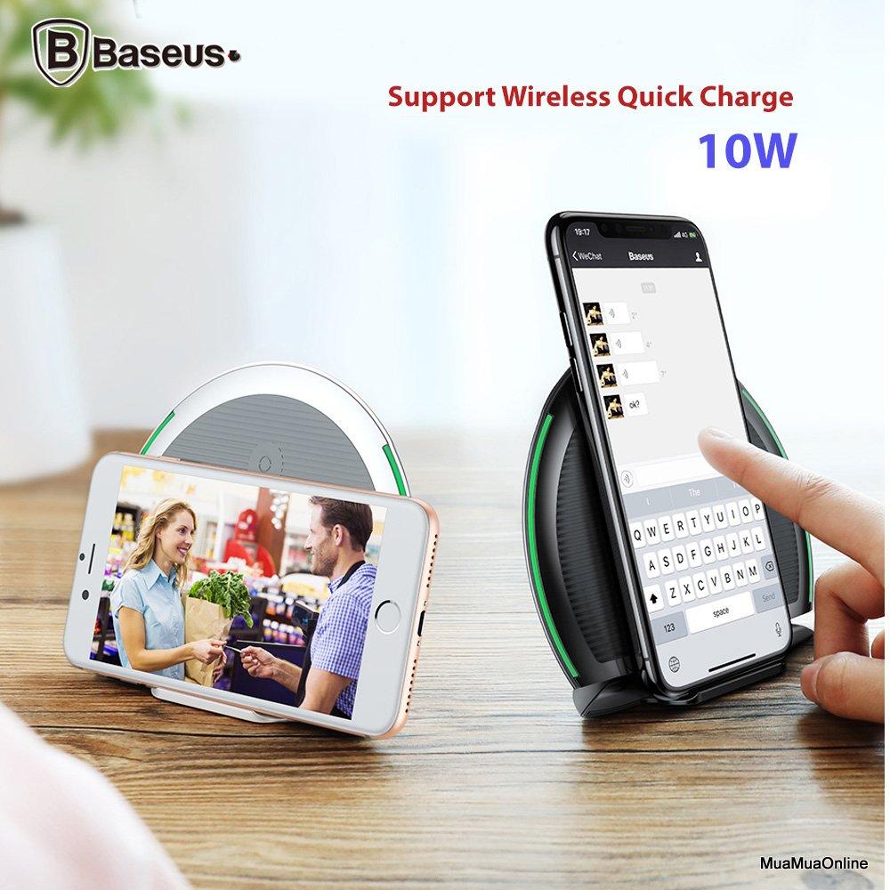 Đế Sạc Nhanh Baseus Foldable Lv253 Cho Apple Iphone 8/ Iphone X / Samsung S8/ S9/ Note 8