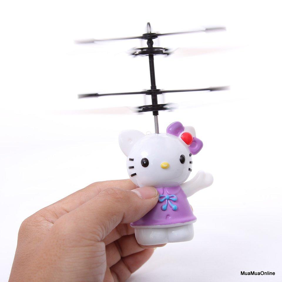 Đồ Chơi Mèo Kitty Biết Bay Cảm Ứng Bằng Tay