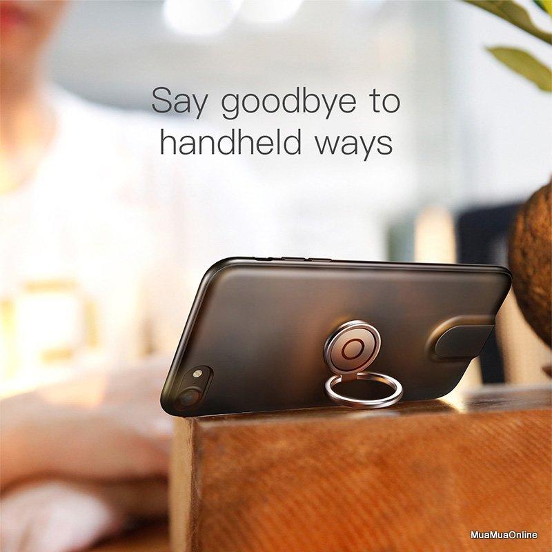 Ốp Sạc Không Dây Baseus Tích Hợp Ring Holder Cho Iphone 7 / 8
