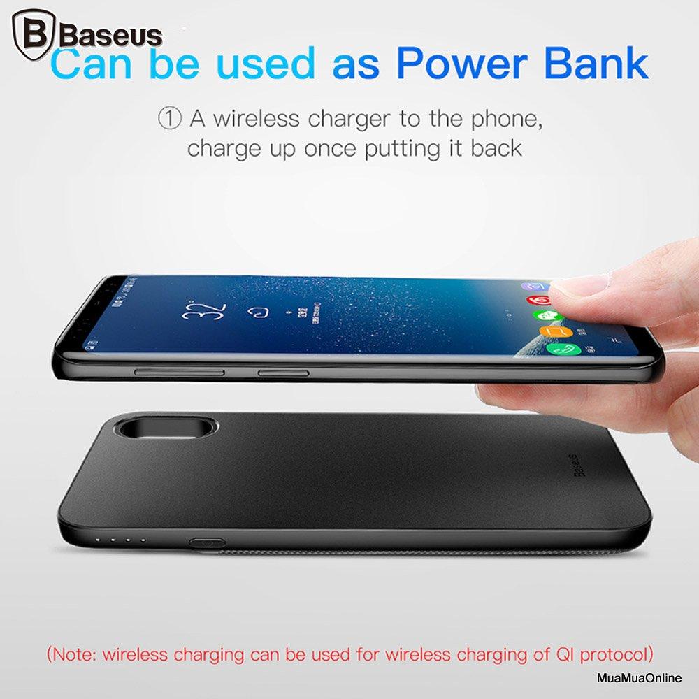 Ốp Lưng Tích Hợp Pin Sạc Dự Phòng Baseus Cho Iphone X 5000Mah