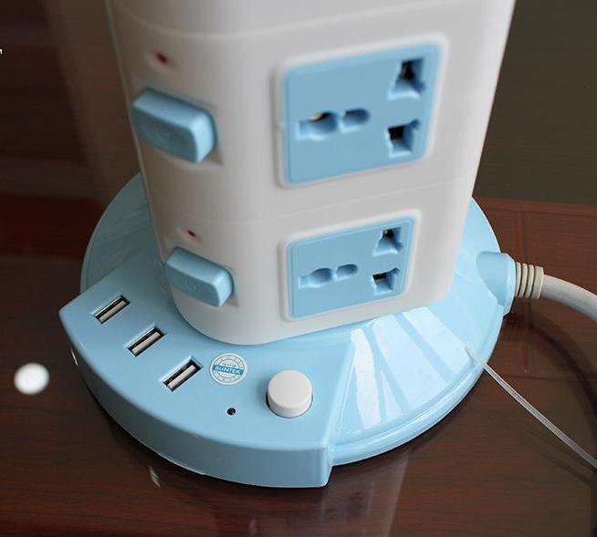 Ổ Điện Đa Năng 4 Tầng 16 Ổ Cắm 3 Cổng USB