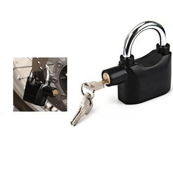 Ổ Khóa Báo Động Có Còi Chống Trộm Kèm 3 Chìa Khóa Và Pin Tiện Lợi