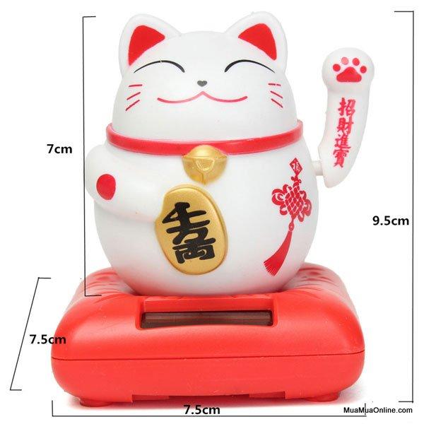 Mèo Thần Tài Ngồi Vẫy Tay May Mắn