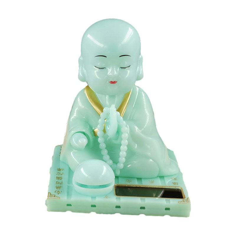 Tượng Phật Gõ Mỏ Tụng Kinh Xanh Ngọc Trang Trí Xe Hơi Bàn Làm Việc
