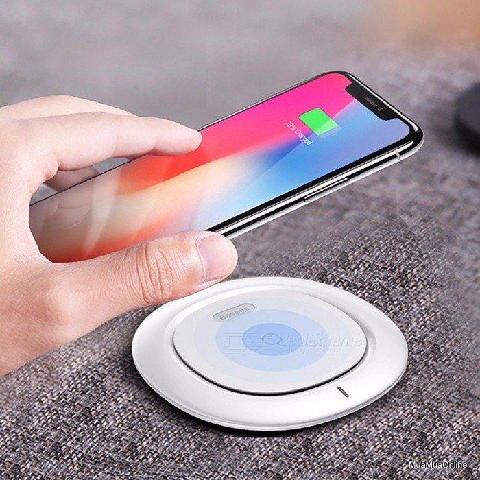 Đế Sạc Không Dây Baseus Chuẩn Qi Cho Iphone 8/ Iphone X / Samsung S8/ S9/ Note 8