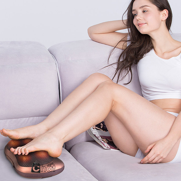 Gối Massage Hồng Ngoại Cao Cấp 8 Bi Cao Cấp