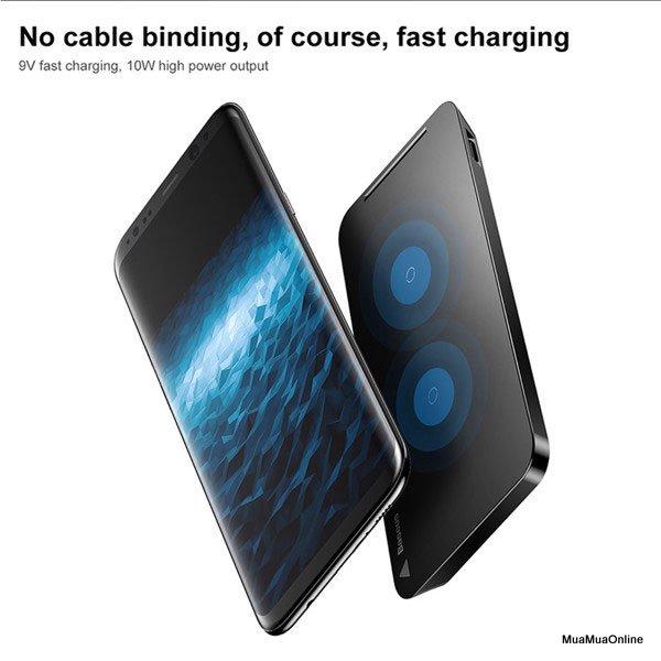 Đế Sạc Không Dây Baseus Đa Năng Cho Iphone 8/ Iphone X / Samsung S8/ S9/ Note 8