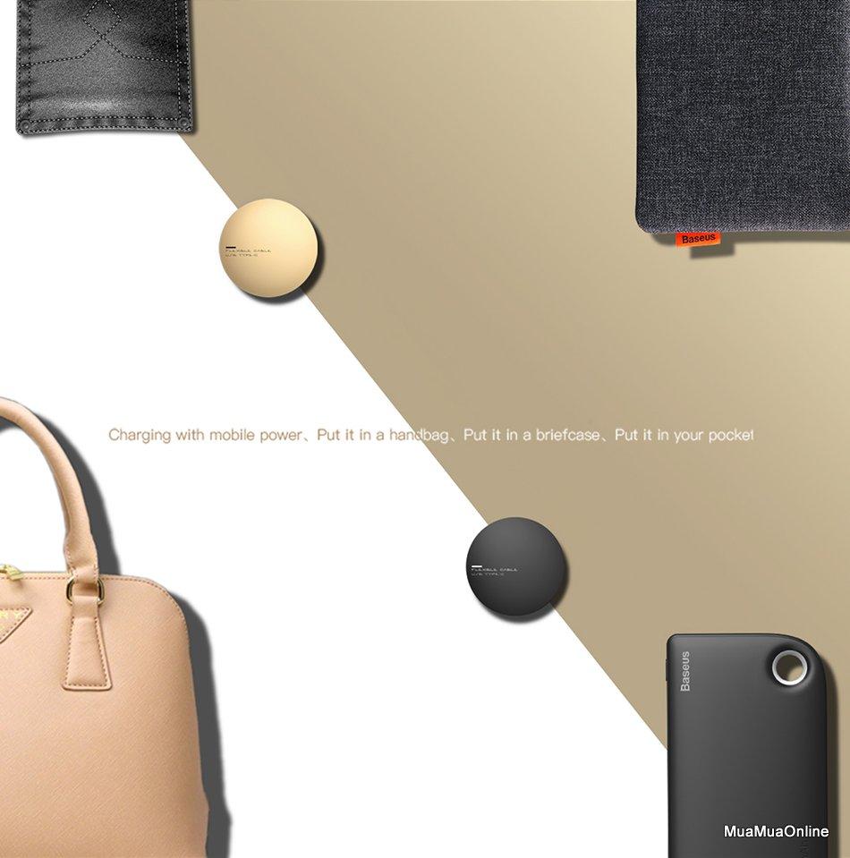 Cáp Sạc Nhanh Baseus Dây Rút New Era Type-C Cho Samsung S8/s9/plus /note 8/9