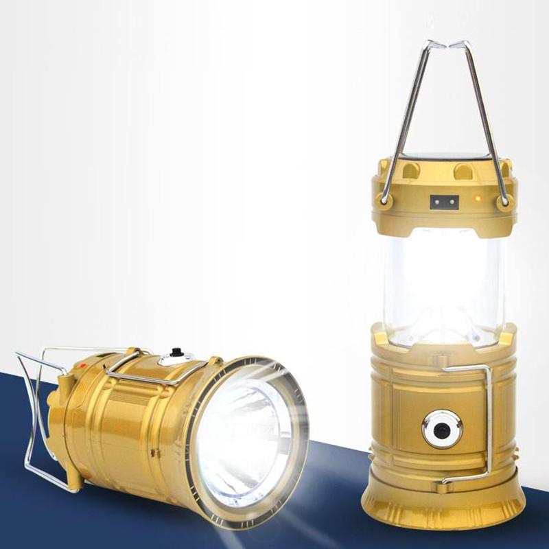 Đèn Led Măng Xông 5800T Dùng Pin Sạc Và Năng Lượng Mặt Trời Tiện Lợi
