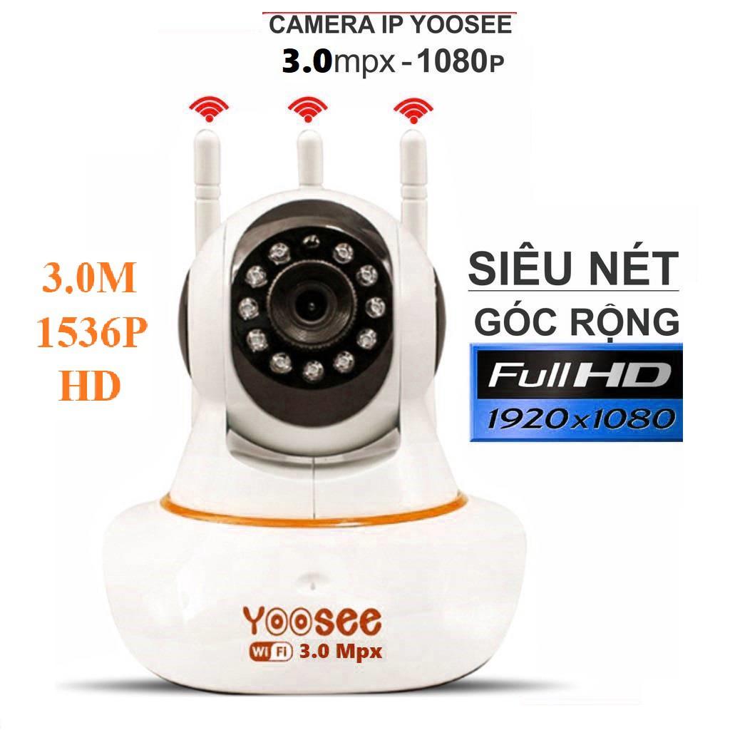 Camera Yoosee 3 Râu 3.0 Góc Rộng Siêu Nét Full Hd Hồng Ngoại Quay Đêm