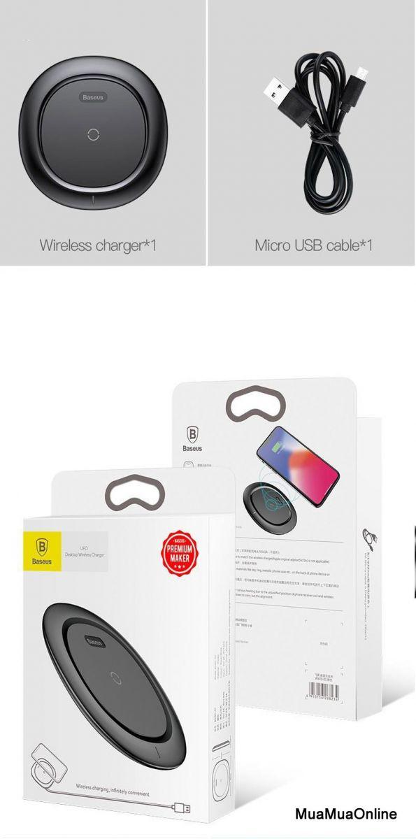 Đế Sạc Không Dây Chuẩn Qi Baseus Cho Iphone 8/ Iphone X / Samsung S8/ S9/ Note 8