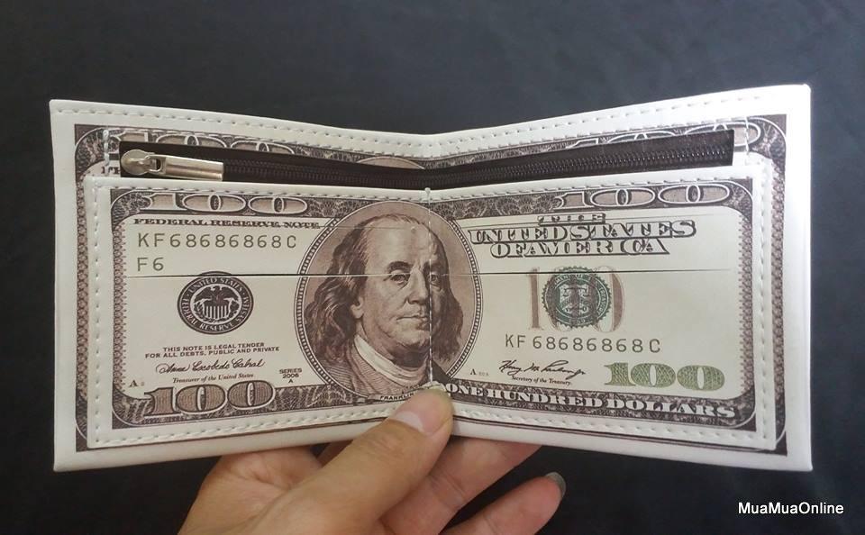 Bóp Ví Nam Hình 100 Đô La Cao Cấp
